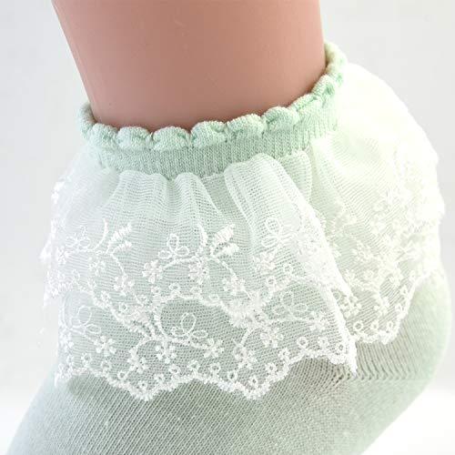 7e1fffac1 VIVIKI Women Lace Cotton Frilly Ruffle Socks Ankle Socks