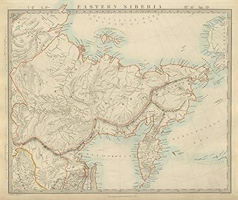 Cartina Russia Da Stampare.Siberia Orientale Kamtchatka Yakutia Chukotka Estremo Oriente Russo Sduk 1874 Mappa Vintage Antica Mappe Stampate Della Russia Amazon It Casa E Cucina