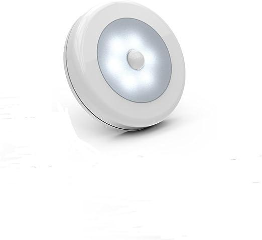 Sensor de movimiento luz, LED recargable con adhesivo para pared o ...