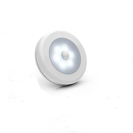 Sensor de movimiento luz, LED recargable con adhesivo para pared o armario de luz nocturna