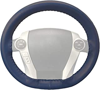 product image for Wheelskins Genuine Leather Blue Steering Wheel Cover Compatible with Lexus Vehicles -Size AX