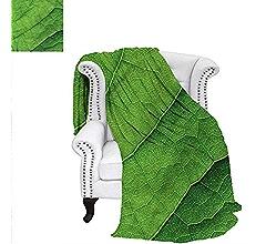 b5c6b55342f65 Amazon.com: RenteriaDecor Green Digital Printing Blanket Leaves of ...