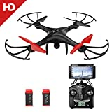 Drone with HD Camera, Potensic U48WH UDIRC RTF Drone Quadcopter UFO with Newest Altitude Hold Fuction&HD WiFi Camera and 3D Flips Function (TF Card & Card Reader Included)