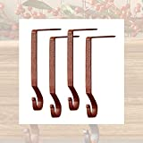 Red Plain Stocking Hanger - 4 Pack - Red
