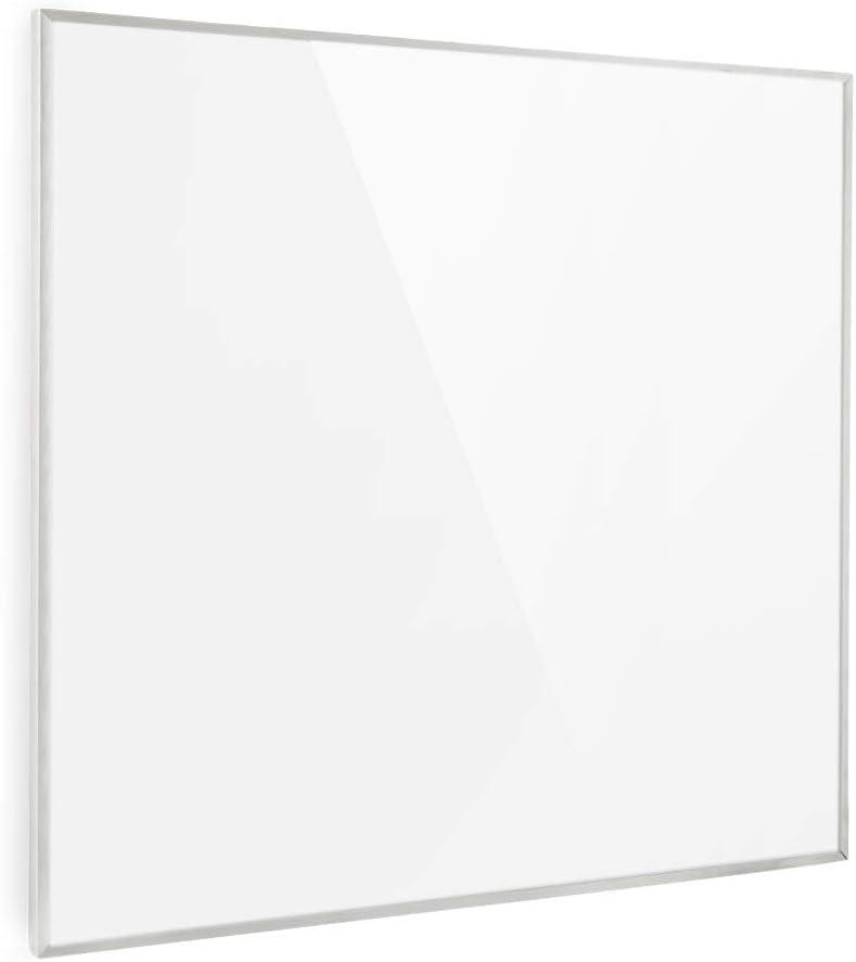 KLARSTEIN Wonderwall - Calefactor infrarrojo, Calefactor portátil, Tecnología de Cristal de Carbono, Programable, Autoapagado, para alérgicos, IP24, Panel de 60 x 60 cm, 600 W, Blanco