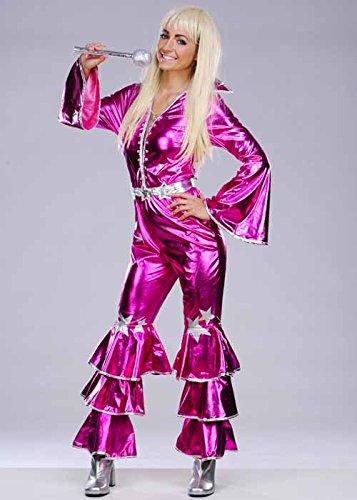 los 70 Abba rosa baile traje de la reina Small (UK 8-10 ...