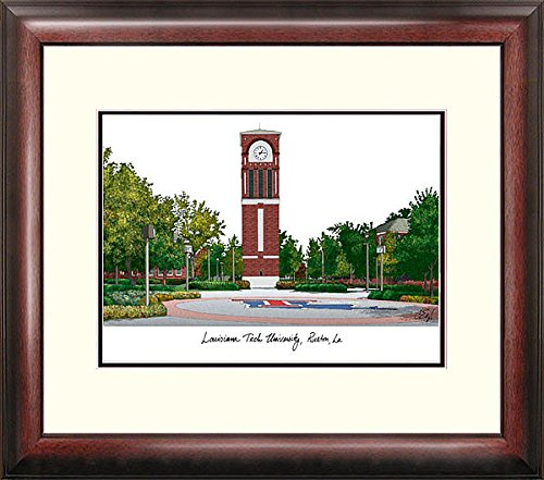 Louisiana Tech University Alumni Exquisitely Framed Home Office (Tech University Framed Lithograph)
