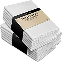 Cotton Dinner Napkins White - 12 Pack (18 inches x18 inches) Soft and Comfortable - Durable Hotel Quality - Ideal for Events and Regular Home Use - by Utopia Kitchen