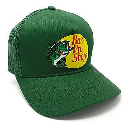 be996deb195c4 Amazon.com  Authentic Bass Pro Mesh Fishing Hat - Dark Green ...