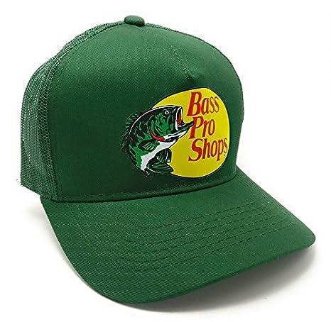 Amazon.com  Authentic Bass Pro Mesh Fishing Hat - Dark Green ... fe6a2688cbf6