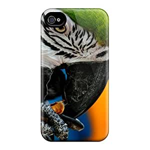 NUGWdgZ2702DrWsT Tpu Case Skin Protector For Iphone 4/4s Parrot Nibbling W With Nice Appearance