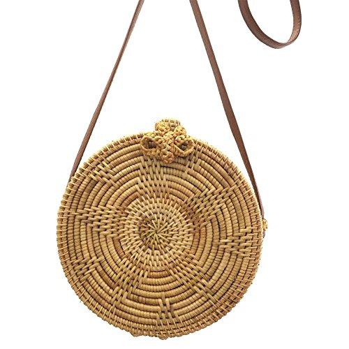 de bolso circular bolso para punto de Star de Sunflower a de mujer hecho de de playa de hombro moda mano playa bolso de crochet tejido Beatie Bolso almacenamiento bolso XwY8q