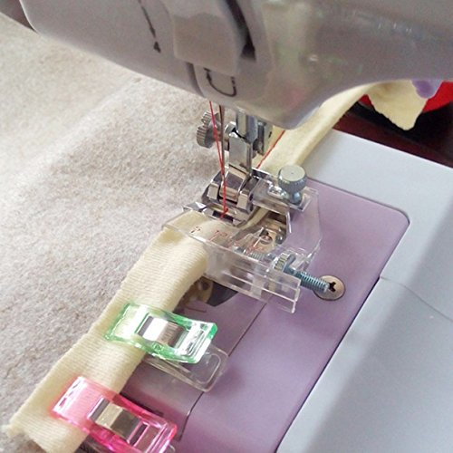ZHONGJIUYUAN 2 Piece Tape Binding Sewing Machine Presser Foot - Fits All Low Shank Snap-On Singer, Brother, Babylock, Euro-Pro, Janome, Kenmore, White, Juki, New Home, Simplicity, Elna and More!