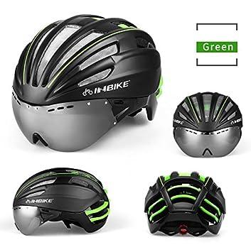 INBIKE ciclismo casco con gafas lnes Integrally-molded casco bicicleta cascos de bicicleta 57 –