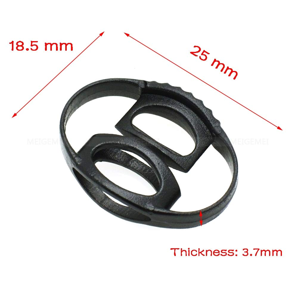 Baguio-Store - 1000pcs 20x18mm Cord Slider Drawstring Plastic Rope Clamp Cord Lock Symmetrical Stopper Black by Baguio-Store