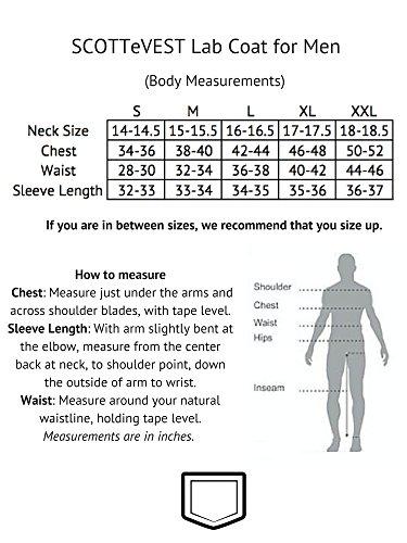 SCOTTeVEST Men's Lab Coat - 16 Pockets - Medical Uniform, Pickpocket Proof XL by SCOTTeVEST (Image #6)'