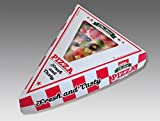 P76350 Pizza Slice Box, Clamshell Style, Paper, White, Red, Green, Black (Pack of 200)