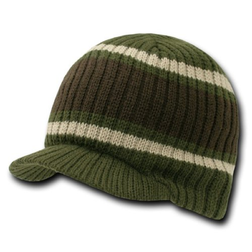 - New Striped Campus Winter Jeep Cap (Comes In 3 Other Colors), Brown