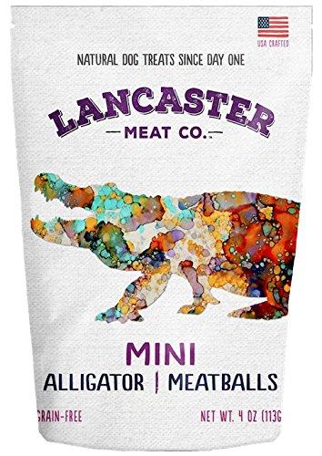 Lancaster Meat Co. Alligator Mini Meatballs - USA Made Grain-Free Dog Treats