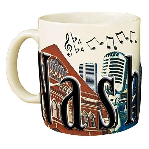 Mug Color Full Stoneware (Americaware SMNVL01 Nashville 18 oz Full Color Relief Mug)