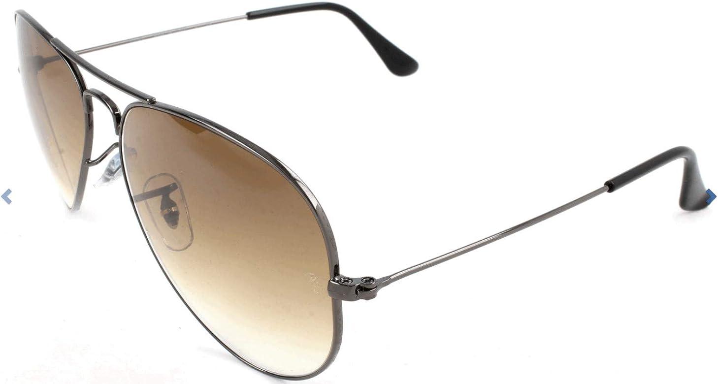 Ray-Ban Aviator RB 3025, Gafas de Sol Unisex, Plateado (004/51), 55 mm