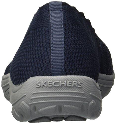 Dame Navy Skechers Skech Fest Scalloped Collar Reggae Knit Loafer Slip Women's on Engineered Trail AIqnxOIwr