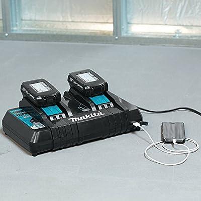 Makita DC18RD - Cargador (0,5 h, 0,75 h, 2,25 kg, Negro, Azul, Cargador de baterías para Interior, Ión de Litio)