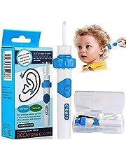 Oorsmeerverwijderaar, Q Grips oorsmeerverwijderaar, elektrische oorsmeerverwijderaar Oorreiniger met 2 afwasbare vervangende koppen, oorsmeerverwijderaar geschikt