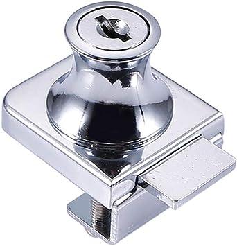 Cerradura de aleación de zinc puerta de cristal Cerradura de Puerta,para Puerta de Cristal DE 5-8 mm, sin Taladro, con 2 Llaves: Amazon.es: Bricolaje y herramientas