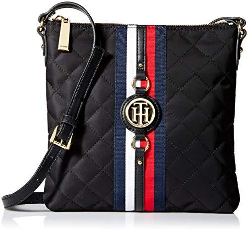 (Tommy Hilfiger Crossbody Bag for Women Jaden, black quilt)