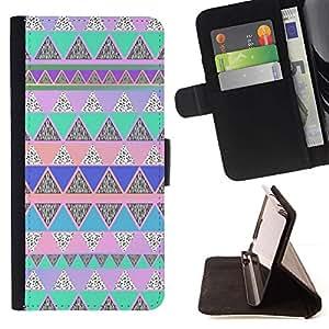 Momo Phone Case / Flip Funda de Cuero Case Cover - Native American Pattern Pink Teal - Sony Xperia Z3 Compact