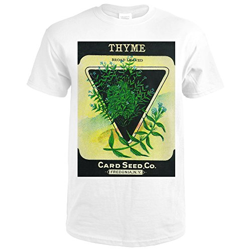 Thyme Seed Packet (Premium White T-Shirt (Thyme Framed)