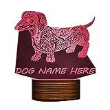 Carl Artbay 3D Golden Retriever Dog LED Night Light, Customiz Name Pet Desk Lamp Decorative Lighting Puppy Sleepy Light Dog Lover Gift