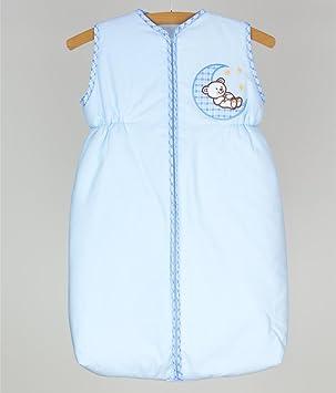 Bebé saco de dormir con cremallera 6 - 18 meses Wrap bordado de bolsa - luna azul: Amazon.es: Bebé