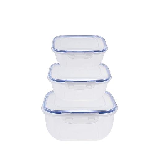 Juego de 5 y 3 recipientes grandes de plástico impermeable para ...