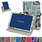 Insignia NS-P10A7100 Rotating Case,Mama Mouth 360 Degree Rotary Stand with Cute Cover for 10.1' Insignia Flex NS-P10A7100 / NS-P10A8100 Android 6.0 Tablet 2016,Newspaper