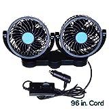 Car Cooling Air Fan 12V- Zone Tech 12V Dual Head Car Auto Cooling