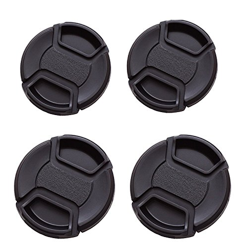 IMZ Lens Cap Bundle - [ 77MM x 2 + 82MM x 2 ] Front Lens Filter Snap On Pinch Cap Protector Cover For DSLR SLR Camera Lens