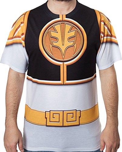 Trevco Men's White Mighty Morphin Power Rangers Sublimati...