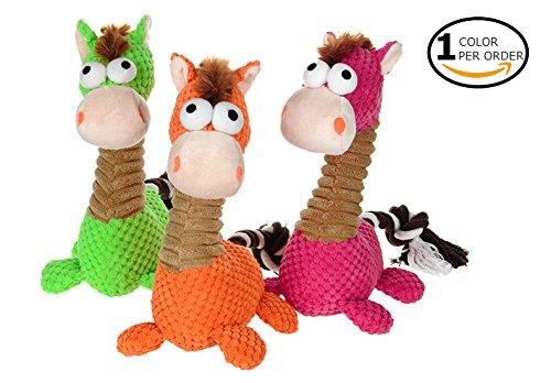 HooPet The Original Safari Plush Natural Dog Toys (Pony)