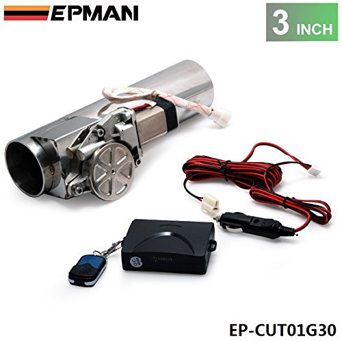 EPMAN - 3.0' Electric I-Pipe Exhaust Downpipe Cutout E-Cut Out Valve System Kit+Remonte EP-CUT01G30