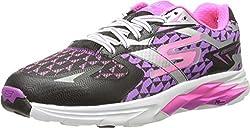 Skechers Performance Women's Go Run Ride 5 Running Shoe, Black/Coral, 5.5 M US