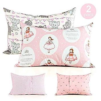 Kids Toddler Pillowcases-2 Pack Pillow Cover for Boys Girls Kids Bedding, Little Bear COSMOPLUS