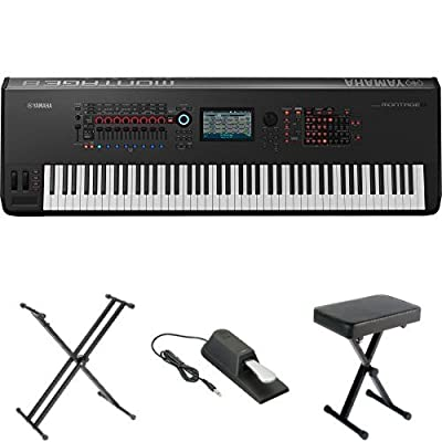 Yamaha Montage8 Synthesizer Workstation, with Stand, Pedal, and Bench by Yamaha PAC