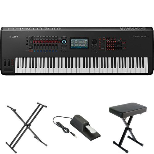 Yamaha Montage8 Synthesizer Workstation, with Stand, Pedal, and Bench by YAMA9