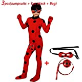 Labu Store Ladybug Wig Bag Children Girls Adult Woman Ladybug Miraculous Costumes Lady Bug Zentai Suit Halloween Costumes