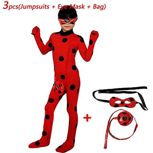 Labu Store Ladybug Wig Bag Children Girls Adult Woman Ladybug Miraculous Costumes Lady Bug Zentai Suit Halloween Costumes by Labu Store