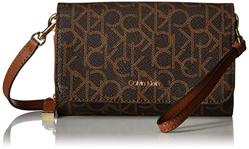Calvin Klein Hayden Signature Key Item Flap Crossbody, Brown khk/Luggage ()