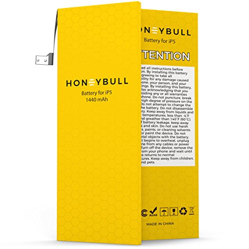 HoneyBull Replacement Battery iP5 [1440mAh] Upgraded New Backup Battery No Tools Included | Not for iP5S/iP5C