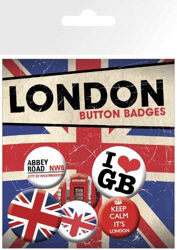 GB Eye LTD, London, Keep Calm, Set de Boutons ToyCentre BP0435